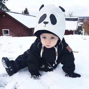 Image 3 - Girlymax niños línea de ropa amigos panda snowsuit niños ropa Niñas Ropa familia juego ropa estilo coreano