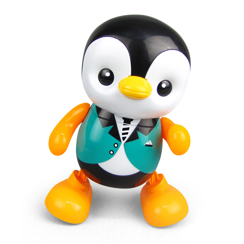 Shaking Voice Network Red Celebrity Style Will Dancing Singing Little Penguin Electric Light And Sound Toy Stall Hot Selling Toy