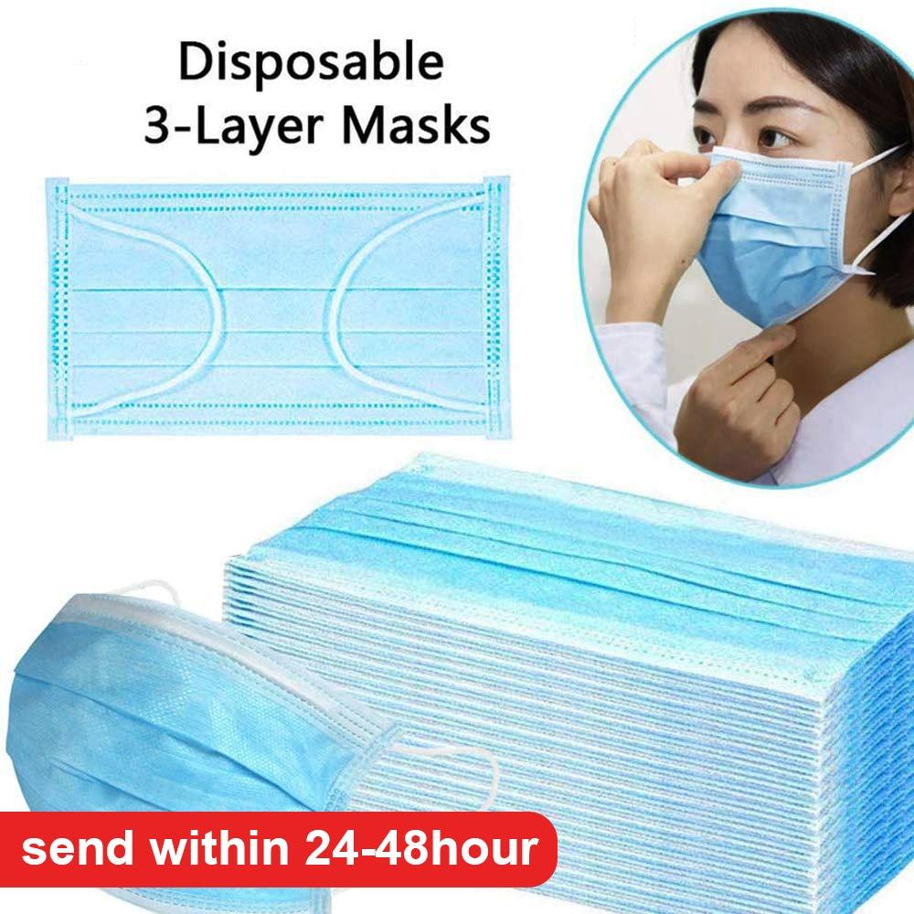 Disposable Masks 50 Pcs  Mask 3-Ply Anti-virus Anti-Dust Pk FFP3 KF94 N95 Nonwoven Elastic Earloop Mouth Face Masks