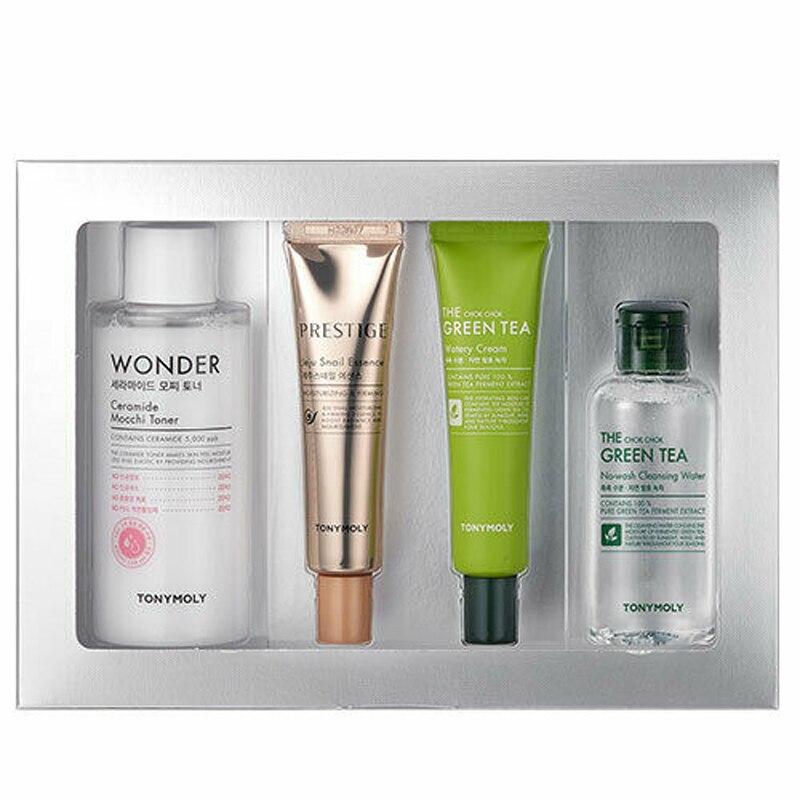 TONYMOLY Beauty Award Winner's Kit ( Toner 200ml + Snail Essence 25ml + Watery Cream 30ml + Cleansing Water 100ml ) Face Care