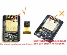 ESP32 ESP32 CAM Wifi + Bluetooth Module Camera Module Development Board Met Camera Module OV2640 2MP Echt Toestemming