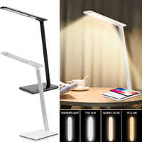 2 In 1 LED Table Desk Lamp QI Wireless Charging Creative Eye Protection Multi-Function Reading Light For Mobile Phone charge