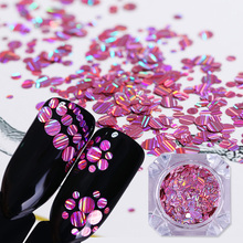 1 Box Nail Sequins Colorful Series Mixed Size Nails Flakies Paillette 3D Art Decoration in
