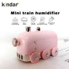 Kindar увлажнитель воздуха, мини-поезд 300 мл для дома в машину с USB, туманный распылитель, фоггер создатель тумана синхронизации 4 часа красочные...
