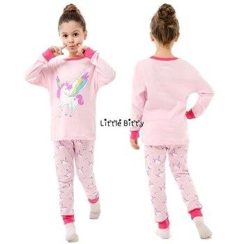 100 Cotton Boys and Girls Long Sleeve Pajamas Sets Children's Sleepwear Kids Christmas Pijamas Infantil Homewear Nightwear - PA19, 2T