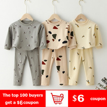Kids Clothing Sets Sweatshirt Tops+ Pants Spring Toddler Boys Girls Clothes Kids Tracksuit Baby Pajamas Children Boys Clothing cheap Wutongshu Casual CN(Origin) O-Neck Pullover Cotton Unisex Full Regular Fits true to size take your normal size Coat Print