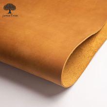 Высококачественный кожевенный предмет из натуральной кожи «сделай сам», материал из воловьей кожи с натуральным лицевым покрытием желтого...