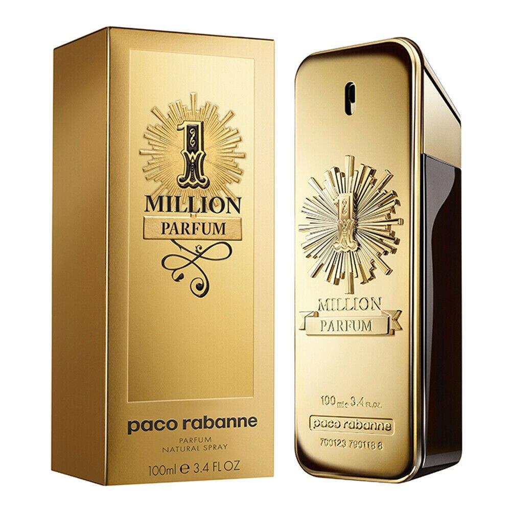Frete grátis paco rabanne 1 milhão parfum spray para homem 3.4 oz 100 ml novo na caixa