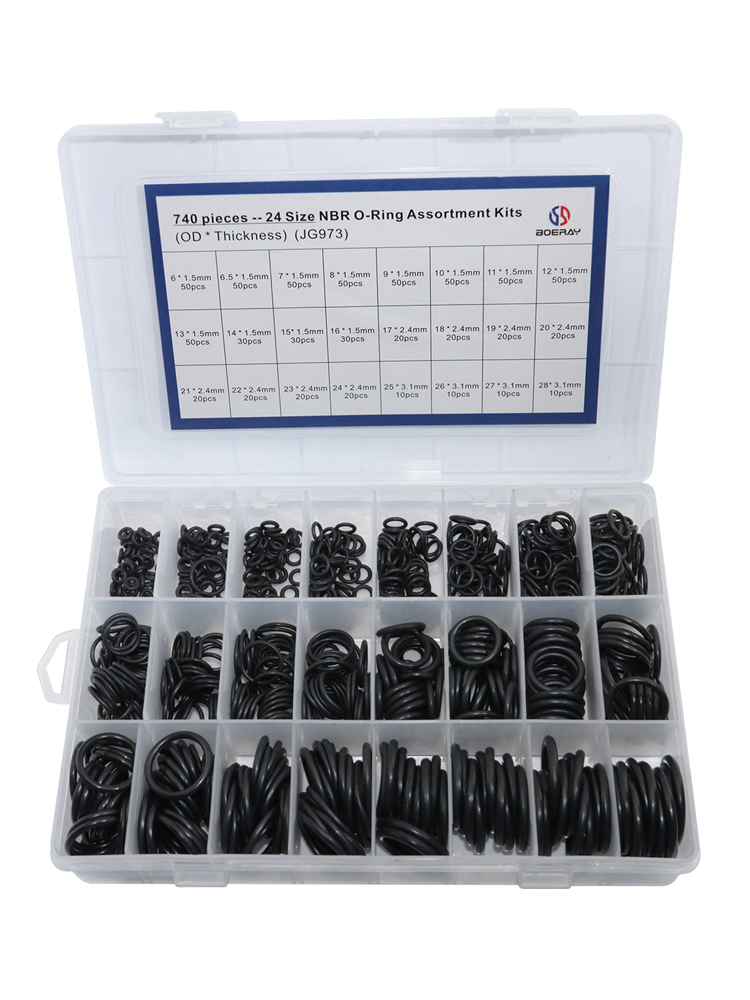Ring-Kit Rubber Nbr-Seal Nitrile 740pcs Thickness