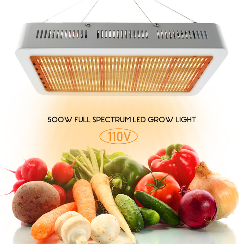 LED à spectre complet élèvent la lumière 500W 110V panneau Fitolampy pour la tente de croissance d'intérieur serres plantes hydroponiques VEG BLOOM lampe de croissance