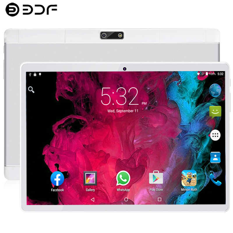 10.1 Inch Tablet PC Android 9.0 4G Phone Call Ten Core 8GB/128GB Dual SIM Cards Wi-Fi  Bluetooth Dual SIM IPS Screen Tablet PC