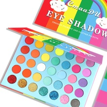 CmaaDU 35/9 Farbe Regenbogen Matte Lidschatten Pailletten Metallic Wasserdicht Glitter Lidschatten-palette Eye Kosmetik TSLM1