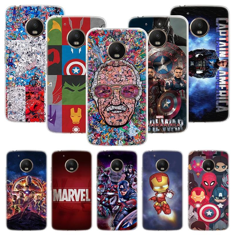 Deadpool Iron Man Marvel Avengers Case For Motorola Moto G8 G7 G6 G5S G5 E6 E5 E4 Plus G4 Play Power X4 One Action Phone Cover C