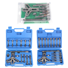 цена на 13pcs Auto Steering Wheel Puller Harmonic Balancer Gear Pulley Crankshaft Tools Kit Special Disassembly Removal Tool Set NEW