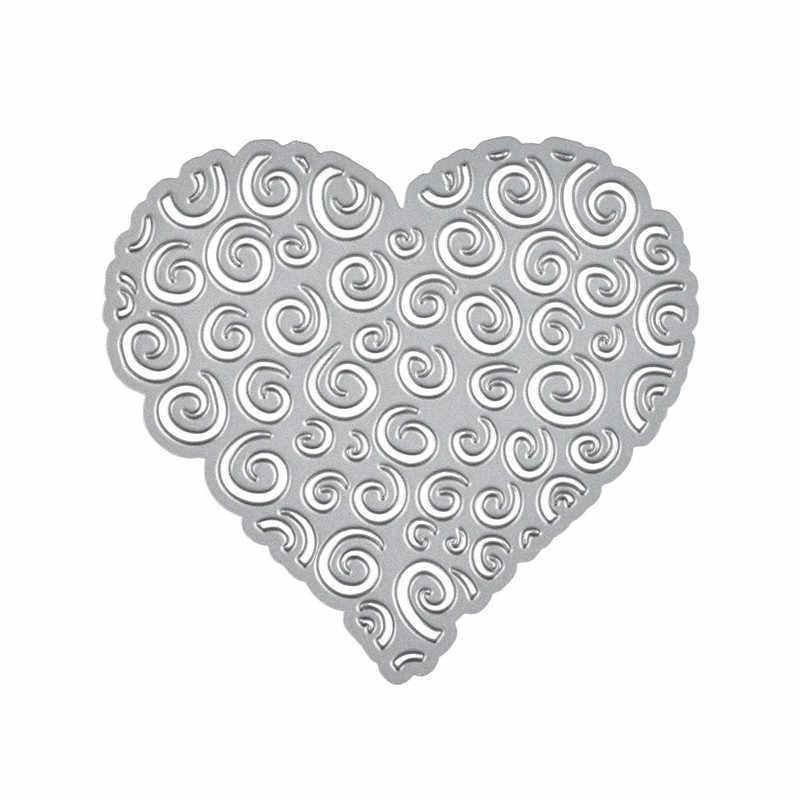 GJCrafts serce umiera miłość metalu wykrojniki nowy 2019 dla tworzenie kartek Scrapbooking tłoczenie ramki Die Cut Craf umiera Ablum Decor