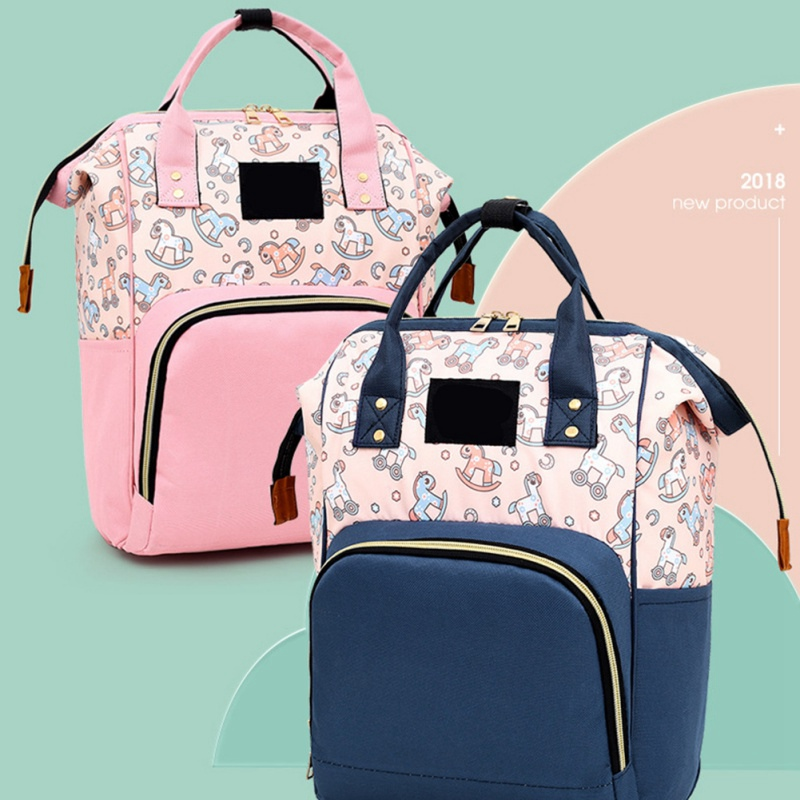 Fashion Mummy Maternity Nappy Bag Large Capacity Waterproof Backpack Multi-function Backpack Nursing Cartoon Print Bag