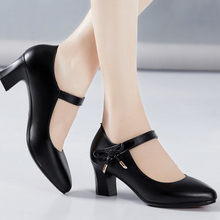 Kobiety pompy wysokie obcasy PU Leather Hook Loop Bowknot kobieta moda damska kobiece wiosenne buty na co dzień obuwie damskie 2021 tanie tanio MCCKLE podstawowe Kwadratowy obcas CN (pochodzenie) Z niewielkim szpicem 0-3 cm Wysoka (5 cm-8 cm) Dobrze pasuje do rozmiaru wybierz swój normalny rozmiar