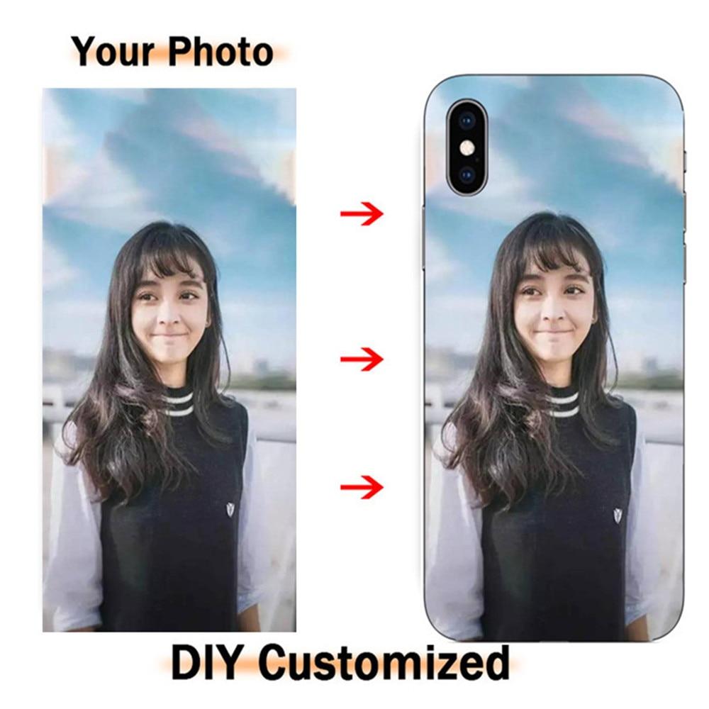 Personalized Custom Logo Name Photo Phone Case For MOTO G4 G5 G7 Power E4 C G5S G6 Plus Z2 Z3 E5 Play X X4 Customized Soft Cover
