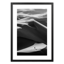 Black White Man Walking In The Desert Wall Art Print paper Painting Nordic Posters And Prints Wall Pictures For Living RoomDecor the man in the wall