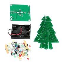 DIY 3D Рождественская елка светодиодный комплект красный зеленый желтый светодиодный флэш-схема части электронный смешной номер Рождественский подарок на год