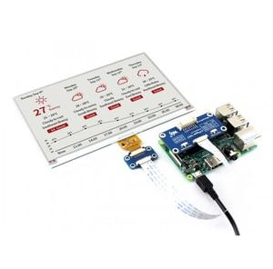 Image 4 - Waveshare 800*480, chapeau daffichage e ink 7.5 pouces pour Raspberry Pi 2B/3B/Zero WThree couleur: rouge, noir blanc, Interface SPI, pas de rétro éclairage