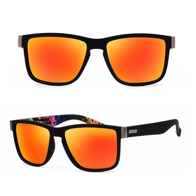 Fashion Wrap Square Frame Retro Polarized Sunglasses  4