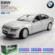 welly 1:24 BMW 535i grey  car alloy car model simulation car decoration collection gift toy Die casting model boy toy