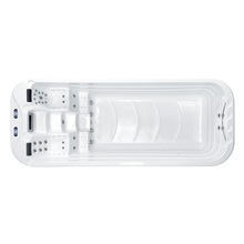 5 5 m basen spa basen z masażem dla willi M-3350 tanie tanio Spa wanny 1-3 person 2pcs 2*1 0 HP for filtration 700w 49 pcs 2*3KW Balboa heater Ozone sterilization 3*3W multi-color bottom LED