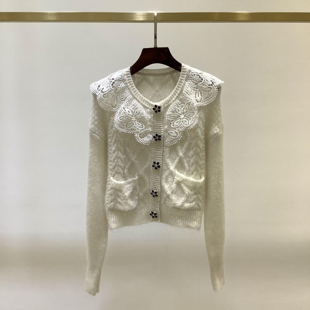 2021 New arrive high quality blue/white/black knitting sweater 4