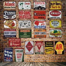 [ DecorMan ] SINCLAIR CONOCO BP MOTOR OIL Garage TIN SIGN Custom wholesale Mural Paintings Bar PUB Decor LT-1857