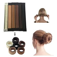 1 pcs Synthetic Wig Head Band Ball Donut Bun Maker Magic Foam Twist Hair Tool Accessories Fashion Elastic Headwear