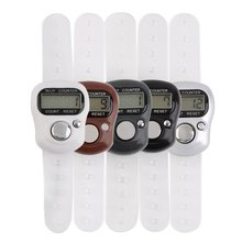 Mini Digit LCD Electronic Digital Golf Finger Hand Held Tally Row Counter 0 8 lcd electronic digital 5 digit ring tally counter 1 x ag10