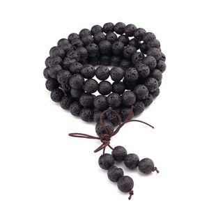 Image 1 - 108 Natural Stone Buddha Prayer Beads Mala Bracelets Buddhist Rosary Necklace