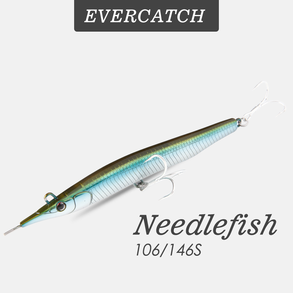 Evercatch needlefish 13/31g sinking pencil hard bait long shot casting jigging lure saltwater deep sea fishing trolling tackle title=