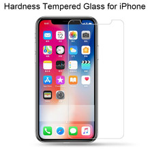 9H HD Tempered Glass for iPhone X 10 8 7 11 Pro 6s 6 5 5s SE 4S Screen Glass on iPhone 7 Plus Clear Film for iPhone 11 XS XR Max(China)