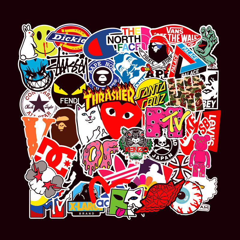 101 Notebook Skateboard Stickers Guitar Trolley Case Waterproof Car Graffiti Sticker