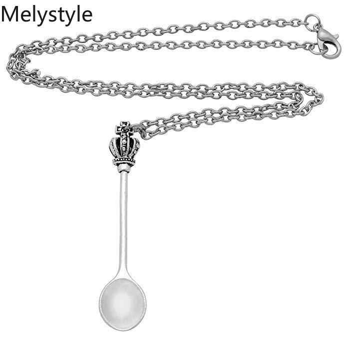 2019 Mode Sleutelhanger keuken lepel-crown Hangers DIY Mannen Sieraden Auto Sleutelhanger Ring Houder Souvenir Voor Gift