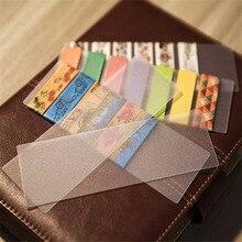 10шт/много DIY симпатичные Kawaii матовый ПВХ Лента отдельную карточку прекрасный прозрачный Васи для домашнего украшения