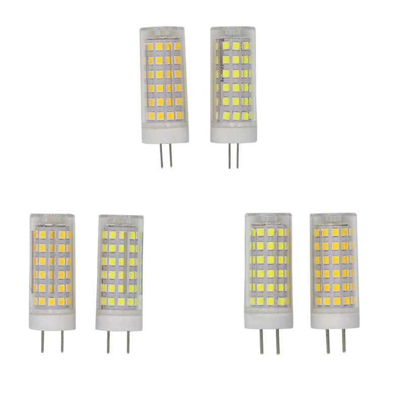 High Quality! G4 G8 GY6.35 SMD2835 7W 9W 10W AC110V AC220V Dimmable LED Light Lamps Bulbs Lampada Corn Lights 5pcs/lot