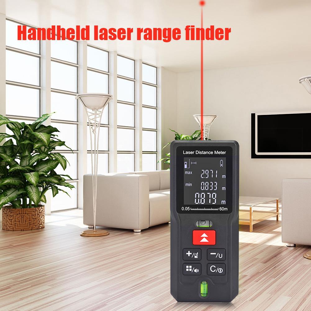 Laser-entfernungsmesser 40/60/80/ 100m Abstand Meter Reichweite Finder Elektronische Herrscher Tester Batterie betriebene Hand Werkzeug Vermesser Gerät