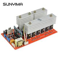 SUNYIMA DC 24V 48V to AC 220V 3000W 5500W Pure Sine Wave Power Frequency Inverter Board Pass Technical Test