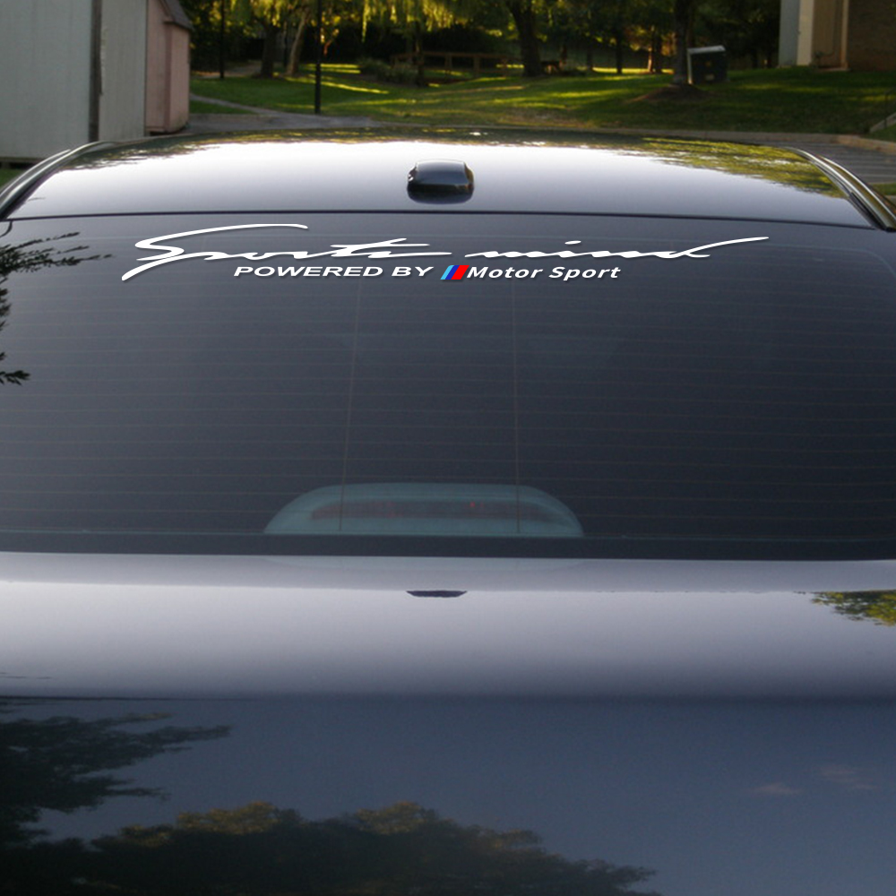 Car Front Rear Windshield Sticker For BMW E46 E90 E60 E39 E36 E87 E92 E91 E34 F30 E10 F20 G30 X1 X3 X5 X6 Sun Shade Vinyl Decal