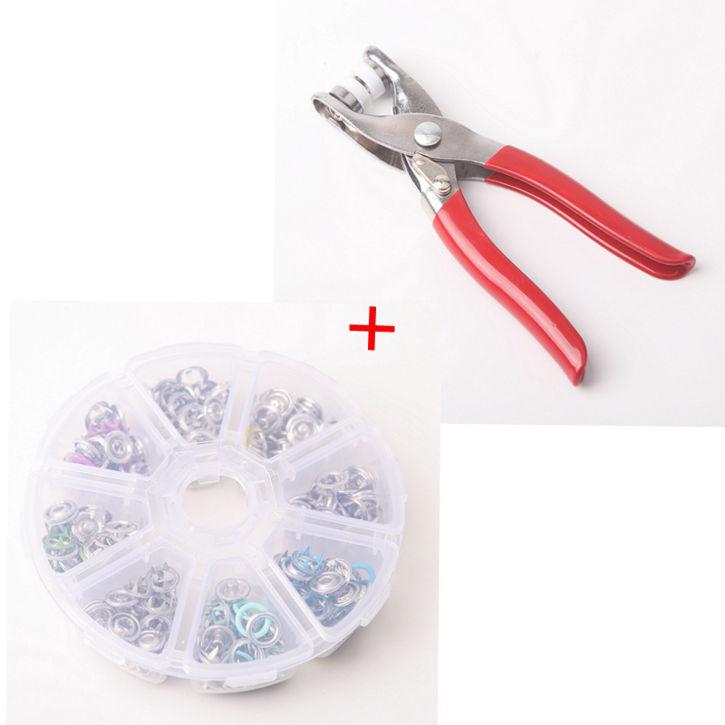 Five Prong Seam Free Color Buttons Invisible Mother Proof Anti Light Four In One Clothes Snap Button Installation Tool 19720 in Buttons from Home Garden
