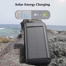30000mAh Qi Wireless Power Bank Solar Waterproof External Battery Wireless Powerbank 4 USB Output 12V1.5A Fast Charger Poverbank(China)