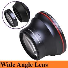 55 мм 0.43x HD широкоугольный объектив (часть для макросъемки) для Nikon D3400, D5600 и серии Sony Alpha (SLT-A99V, A99II, A99, A77II, A77. ..