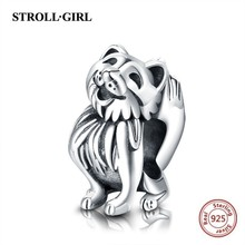 Strollgirl 2019 new Cute fox animal charm beads fit padnoras charms silver 925 original bracelet woem for jewelry making