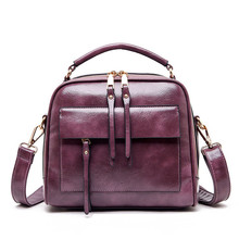 Genuine Leather Shoulder Bag Women With Pockets Designer Handbags High Quality Zipper Messenger s   2019 Brand цена в Москве и Питере