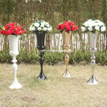 Vase Centerpieces Trumpet Wedding-Vased-Plated Gold Seny1338 12pcs Tall New-Style