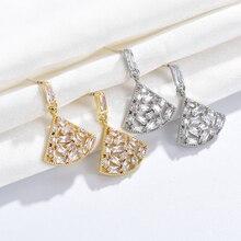 Luxury Zircon Crystal gold earrings 2019 for women fashion crystal drop jewelry womens accessories