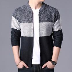 2020 mode hommes chandails Patchwork tricoté Cardigan manteaux hommes tricots sweatermanteaux hauts vêtements d'extérieur mâle décontracté marque vêtements